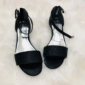 Style &Co Black Glitter Sandals